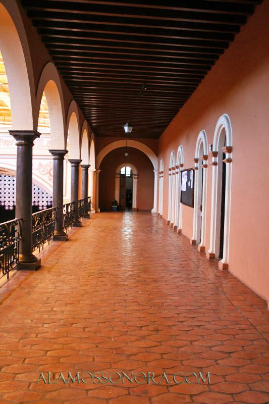 An upstairs corridor in the Palacio Municipal of Alamos, Sonora