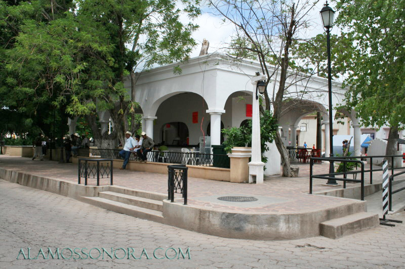 Plaza Alameda in Alamos, Sonora
