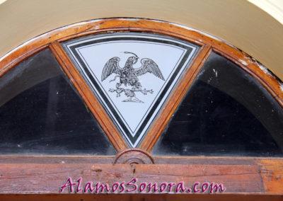 Transom window in the Alamos Sonora Palacio Municipal